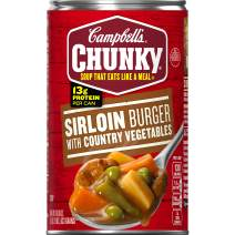 Campbell's Chunky Soup, Sirloin Burger with Country Vegetables, 18.8 Ounce (Pack of 12)