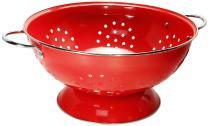 Calypso Basics by Reston Lloyd Powder Coated Enameled Colander, 7 Quart,  Red