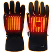 Electric Battery Heated Gloves for Women Men,Touchscreen Texting Water-resistant Thermal Heat Gloves,Electric Battery Heated Ski Bike Motorcycle Warm Gloves Hand Warmers,Winter Thermo Gloves