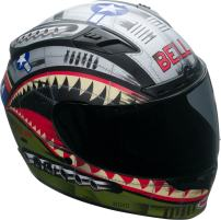 Bell Qualifier DLX Full-Face Motorcycle Helmet (Devil May Care Matte, Small)