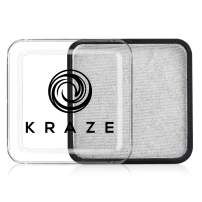 Kraze FX Square - Metallic Silver Face Paint (25 gm) - Hypoallergenic, Non-Toxic, Water Activated Professional Face & Body Painting Makeup Supplies for Sensitive Skin, Kid Safe, Adults