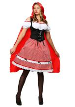 Women's Knee Length Red Riding Hood Costume Red Riding Hood Dress for Women