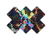 Nippies Style Black Rainbow Snake Cross Waterproof Self Adhesive Nipple Cover Pasties