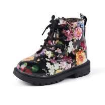 Komfyea Boy's Girl's Outdoor Waterpoor Zipper Lace-Up Ankle Boots (Toddler/Little Kid/Big Kid)