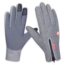 anqier Winter Warm Gloves,Windproof Touchscreen Gloves Outdoor Cycling Running Climbing Gloves for Men Women