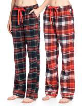 Ashford & Brooks Women's 2 Pack Super Soft Flannel Plaid Pajama Sleepwear Pants