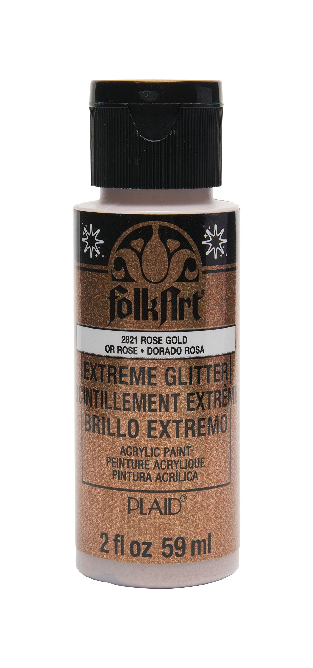 FolkArt Extreme Glitter Acrylic Paint in Assorted Colors (2 Ounce), 2812, Rose Gold