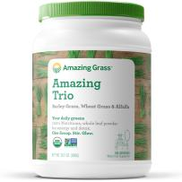 Amazing Grass Greens Trio: Greens Powder with Wheatgrass, Alfalfa, & Barley Grass, Rich Source of Chlorophyll, 100 Servings