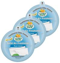 Citrus Magic Solid Air Freshener Pure Linen, Pack of 3, 8-Ounces Each