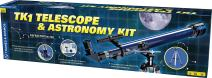 Thames & Kosmos TK1 Telescope Plus Astronomy Educational Science Kit | Refractor 60/700 | Aluminum Full Size Tripod with Altazimuth Mount | 35X, 70X, 140X Power | Parents' Choice Recommended