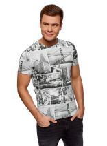 oodji Ultra Men's Printed Cotton T-Shirt