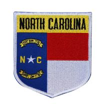 State Flag Shield North Carolina Patch Badge Travel Embroidered Iron On Applique
