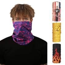 DD DEMOISELLE Unisex Face Mask Bandana Men's Women's Neck Gaiters Face Shield Scarf 4 Pack