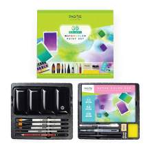 Pagos Watercolor Set - Artist Quality 36 Pans Water Color Paint Kit - High Pigmentation, All-In-One Set With Palette, Brushes, 12 Sheets Paper Pad - Gift Box For Artists, Students, Adults