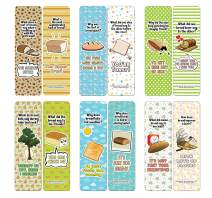 Creanoso Funny Bread Puns Bookmarks (12-Pack) - Stocking Stuffers Premium Quality Gift Ideas for Children, Teens, Adults - Corporate Giveaways & Party Favors