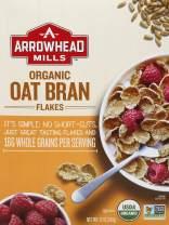 Arrowhead Mills Oat Bran Flakes Organic Cereal, 12 Ounce Box