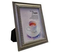 VERSERIES - Peace Picture Frame - Christian Gift and Art - Canvas Photo Frame - Bible Verse Gift - Choose Your Design (Rustic Silver Frame, Set of 1)