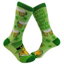 Make Saint Patricks Day Great Again Socks Novelty Funny Donald Trump St Patty
