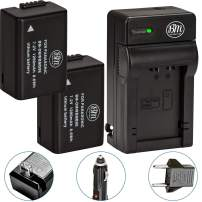 BM Premium 2 Pack of DMW-BMB9 Batteries and Battery Charger for Panasonic Lumix DC-FZ80, DMC-FZ40K, DMC-FZ45K, DMC-FZ47K, DMC-FZ48K, DMC-FZ60, DMC-FZ70, DMC-FZ100, DMC-FZ150 Digital Camera