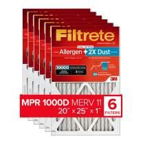 Filtrete 20x25x1, AC Furnace Air Filter, MPR 1000D, Micro Allergen PLUS DUST, 6-Pack