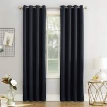 "Sun Zero Easton Blackout Energy Efficient Grommet Curtain Panel, 54"" x 63"", Navy Blue"