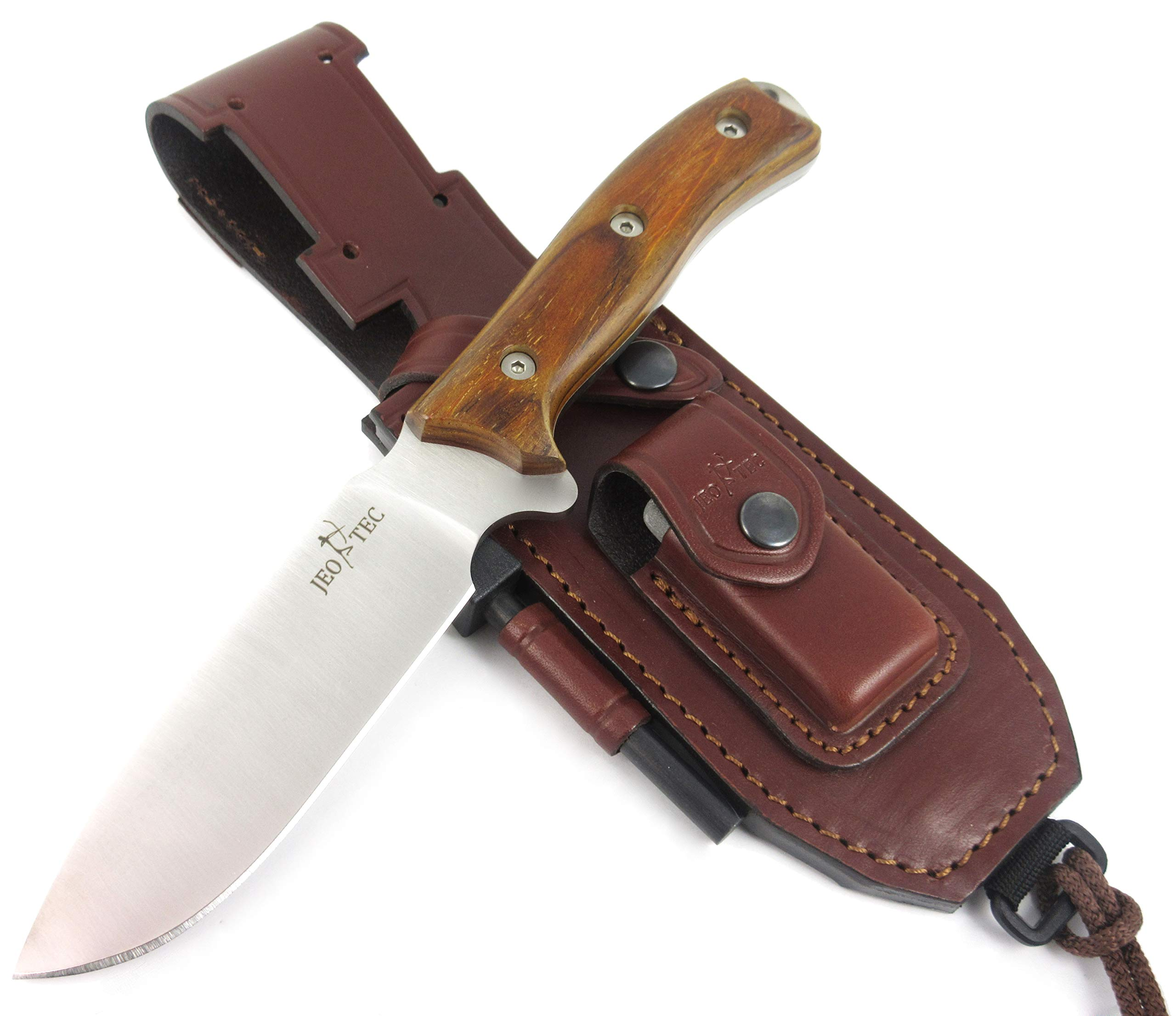 JEO-TEC Nº7 Bushcraft Survival Hunting Knife - BOHLER N690C Stainless Steel, Multi-positioned Sheath - Handmade