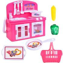 FUN LITTLE TOYS Toy Kitchen Appliances for Girls, Stove Burner with Oven, Food Playset, Play Kitchen Accessories for Toddlers and Kids, 3 + Year Old Girl Gifts