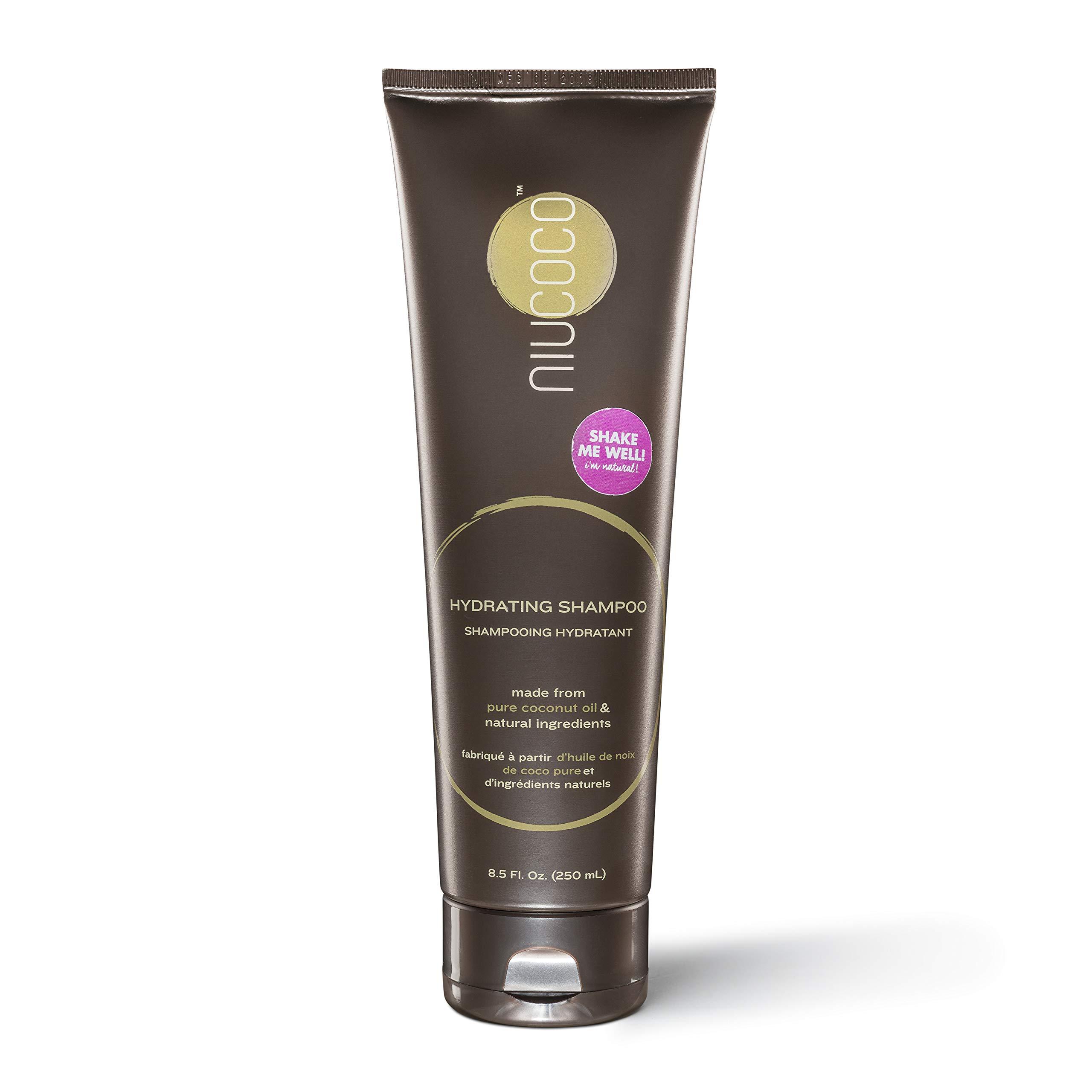 NIUCOCO | All-Natural Hydrating Coconut Oil Shampoo | 100% Non-Toxic | Alleviates Dandruff (250ml)