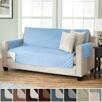 Home Fashion Designs Reversible Furniture Protector, Sofa, Marine Blue/Linen