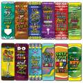 Creanoso The Key of Being Happy Bookmarks (12-Pack) – Six Assorted Quality Bookmarker Cards Bulk Set – Premium Gift Tokens for Kids, Boys, Girls, Teens, Young Bookworms
