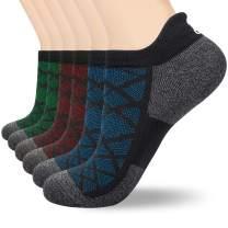 Batuzon Ankle Socks Men Women Athletic Socks Low Cut Running Socks Non-slip Sports Performance Tab Socks 6 Pairs