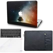 """KECC Laptop Case for MacBook Air 13"""" Retina (2020/2019/2018, Touch ID) w/Keyboard Cover + Sleeve + Screen Protector (4 in 1 Bundle) Plastic Hard Shell Case A2179/A1932 (Lonely Tree)"""