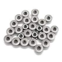 M5 x 0.8 Serrated Flange Hex Lock Nuts, Stainless Steel 304, Bright Finish,(100 PCS) by FullerKreg