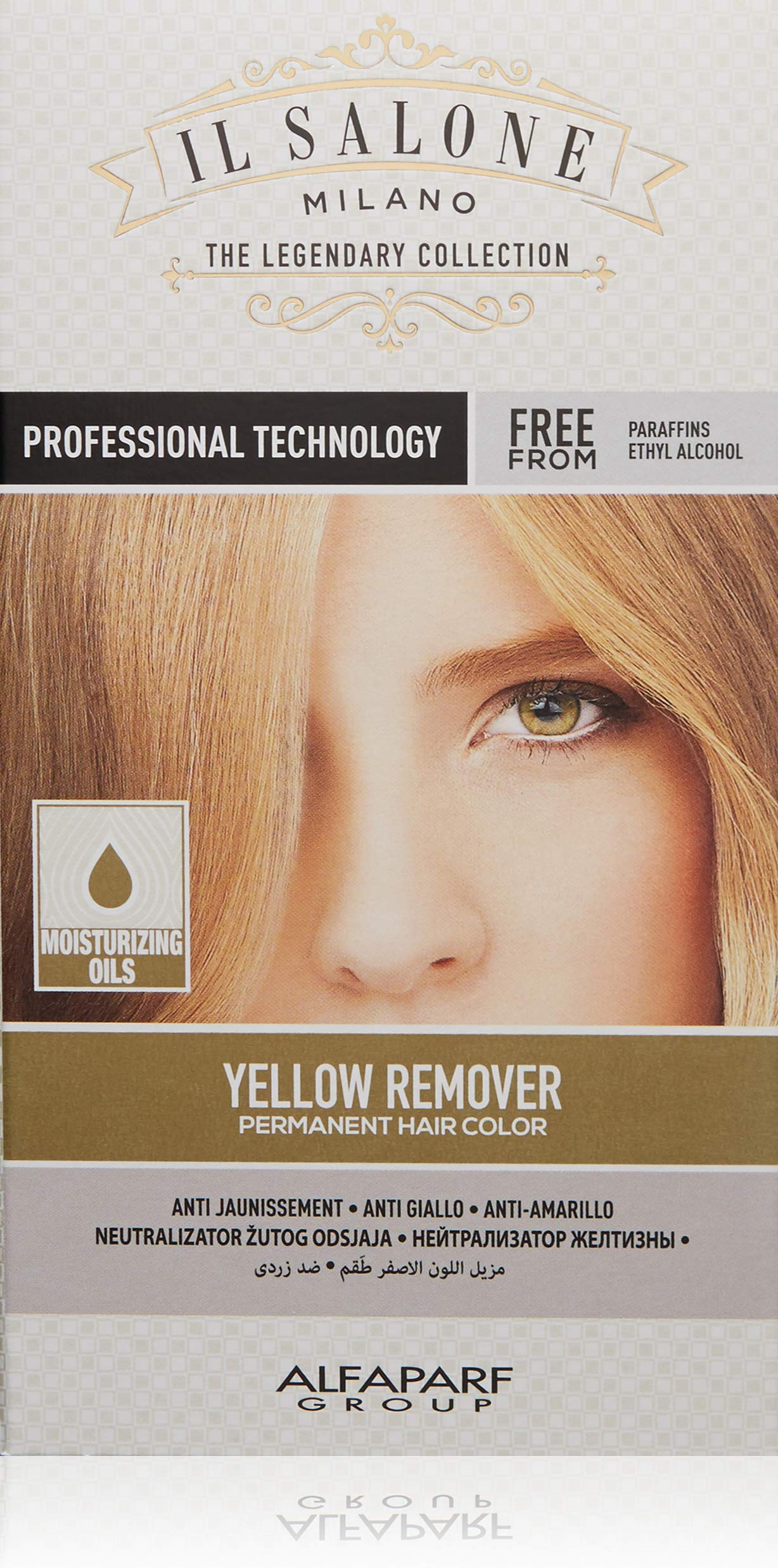 Il Salone Milano Professional Permanent Hair Color Kit - Yellow Remover - Reduce Brassiness - Paraffin Free, Ethyl Alcohol Free - Moisturizing Oils - Banish Brassy Hair