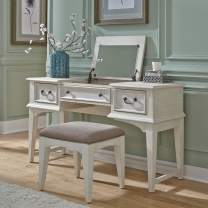 Liberty Furniture Industries Bayside 2 Piece Vanity Set, W54 x D18 x H30, White