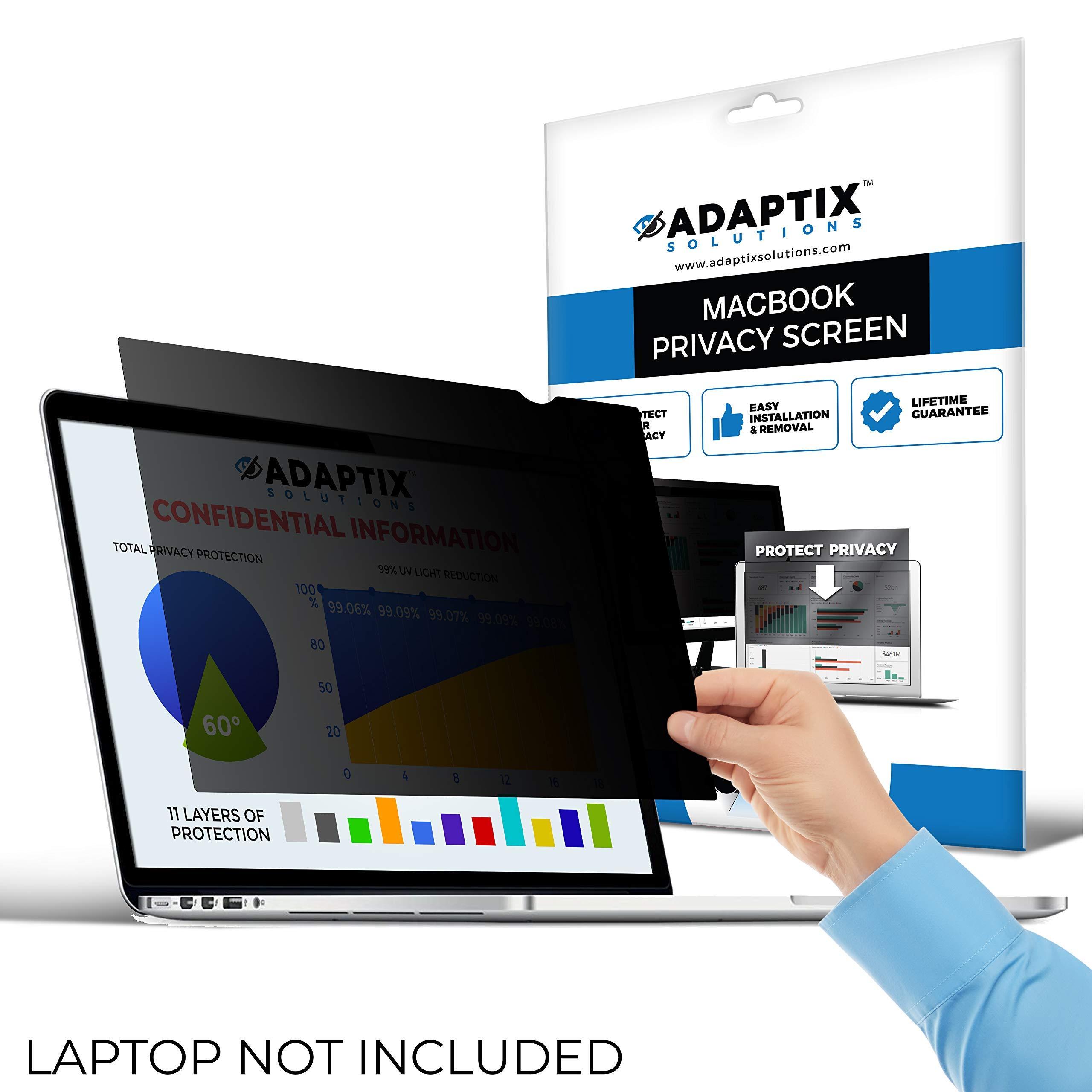 "Adaptix MacBook Compatible – 13"" Privacy Screen for MacBook Air – Anti-Glare, Anti-Scratch, Blocks 96% UV – Blue Light Screen Filter Protector [Late 2010-2017] (APFMA13)"