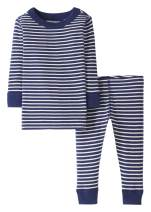 Moon and Back by Hanna Andersson Baby/Toddler Boys' and Girls' 2-Piece Organic Cotton Long Sleeve Stripe Pajama Set
