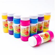 Fun Central 12 Pack - 2 oz Bubble Bottle Assortment - Bubble Solution Refill for Kids