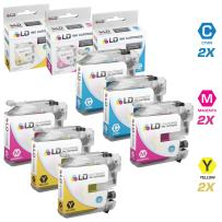 LD Compatible Ink Cartridge Replacement for Brother LC103 High Yield (2 Cyan, 2 Magenta, 2 Yellow, 6-Pack)