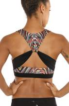 icyzone Workout Sports Bras for Women - Fitness Athletic Exercise Running Bra Yoga Tops