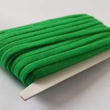 Green Elastic String for DIY Masks Soft Sewing Elastic Band Cord Rope Straps Flat Stretchy Braided Fabric 1/4 Inch 20YARD