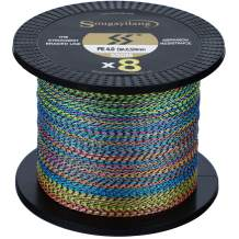 Sougayilang Braided Fishing Line 8 Strands Abrasion Resistant 97LB Braided Lines Incredible Zero Stretch Fishing line Braid