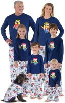 PajamaGram Holiday Pajamas Family Fleece - Minion Pajamas, Blue