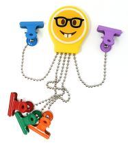 OctoClip Refrigerator Magnet – Fridge Organizer Locker Magnet Nerd Emoji with Multi Colored Clips, 1 Pack