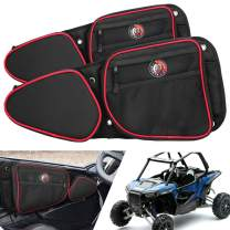 """Seven Sparta Door Bags for Polaris RZR, Including 2014-2019 RZR XP4 1000, 2014-2019 XP1000,RZR Turbo, 2015-2019 RZR 900(60"""" Wide Models), Doors Side Storage Bags with Knee Protection Pad for RZR Turbo"""