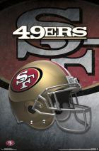 "Trends International San Francisco 49ers-Helmet Premium Wall Poster, 22.375"" x 34"""