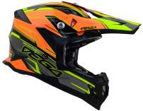 Vega Helmets Unisex-Adult Off-Road MCX Lightweight Fully Loaded Dirt Bike Helmet (Orange Stinger Graphic, LG) - 32099-094