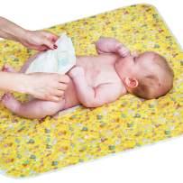 "Baby Portable Changing Pad - Diaper Change Pad Large Size (25.5""x31.5"") - Waterproof Diaper Changing Mat for Girls Boys Newborn - Multi-Function Storage Bag"