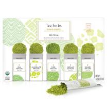 Tea Forte Organic Matcha Green Tea Sampler, Stone Ground Culinary Grade Green Tea Matcha