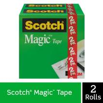 Scotch Brand Magic Tape, Invisible, Cuts Cleanly, Engineered for Office and Home Use, 1/2 x 1296 Inches, Boxed, 2 Rolls (810H2)